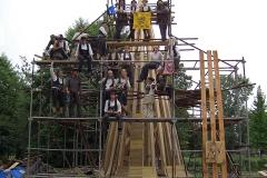 Abnehmen und Restaurieren der Turmspitze