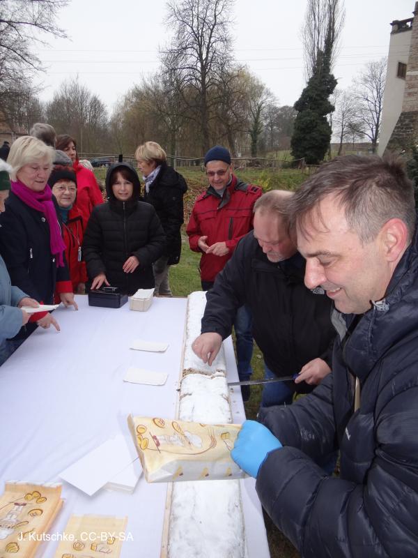 Riesenstollen der Jessener Bäckerei Rene Oelsch